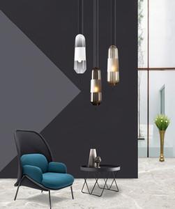 Transfronteriza nórdica creativa dormitorio cristal de noche pequeña lámpara de araña arte sofá de la sala al lado de la araña de diseño modelo de habitación