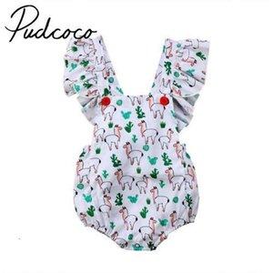 Pudcoco neonato neonate vestiti di cotone Fly manica della tuta Backless Outfits 0-24months Pudcoco