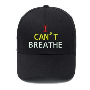 Eu não posso respirar Letters Designer Baseball Cap Ball Caps para Homem Mulher ajustável Marca Chapéus Rua Hat Gorros Altamente qualidade 7 cores