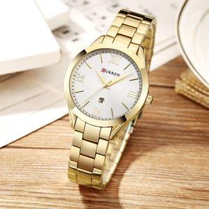 CURREN Gold Watch Women Ladies 9007 Steel Women's Bracelet Watches Female Clock Relogio Femino Montre Femme MX200320