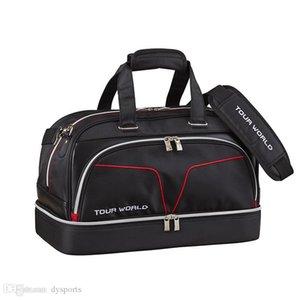 Grande Capacidade Honma Golf Boston Bag High-end de couro Toolkit Acessórios de armazenamento Pacote de roupa Golf Bag Shoes Bag Red Preto