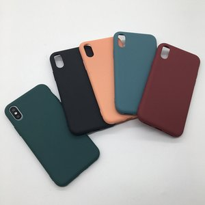 candy solid color silicone matte phone cases for iphone 11 pro max xs x xr 6s 7 8 plus case protection back cover covers
