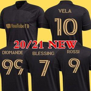 Nuovo arrivato 2020 LAFC Carlos Vela pullover di calcio 20/21 casa X ZELAYA ROSSI Los Angeles FC nero Parley primaria del calcio bianco camice