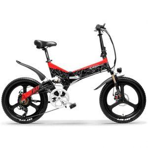 G650 20 pollici bicicletta pieghevole elettrica 400W motore 10.4Ah / 14.5Ah Li-ion 5 Livello Pedal Assist Full Suspension Mountain Bike