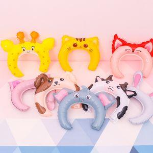 Alüminyum Film Hairband Oyuncak Balonlar Saç Çubuk Süsleme Karikatür Hayvan Maymun Fox Baş Gruplar Eh 0 44qp J1 Sat
