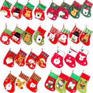 Noel çorap Hediyeleri Kardan Adam Elk Noel Baba Çorabı Çanta Hotel Restaurant Çatal Çanta Yılbaşı Ağacı Süsleme Ev Partisi Ara Asma