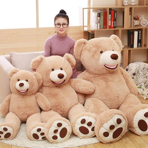 1 PC High Quality Lovely Huge Size 130cm USA Giant Bear Skin Teddy Bear Hull Wholesale Price Selling Birthday Gift for Girls Baby Christmas