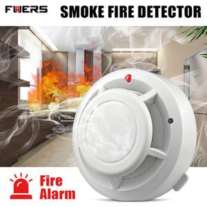 FUERS الجودة إنذار مستقل دخان الحريق الحساسة للكشف عن الأمن الرئيسية إنذار لاسلكي كاشف الدخان الاستشعار معدات الحريق