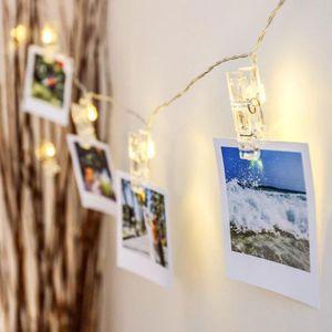 1m 2m 3m 4m 6m Clip lámpara de LED luces de cadena luces de la decoración de la batería o 5 V DC celebración de días festivos USB boda de cuento