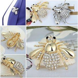 Nuovo carino ape spilla di strass animale di cristallo bella Pins Spille per le donne di moda gioielli