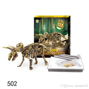 New products selling DIY dinosaur archaeological excavation tools plastic environmental protection children's educational brain game to