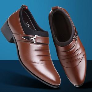 2017 Yeni Erkek Gerçek inek derisi Deri Oxford ayakkabı Rahat Taban Lacing İş Elbise Man Düğün Yüksek Kaliteli Shoes