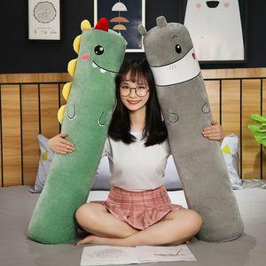 70cm Cute Animals Plush 3D Long Pillows Stuffed Hamster Dinosaur Sheep Flamingo Toys Soft Dolls Sleep Cushion for Kids Gifts
