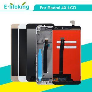 ل xiaomi redmi 4x شاشة lcd لمس الشاشة محول الأرقام ل redmi 4a tocuh لوحة الجمعية مع الإطار الأصلي استبدال