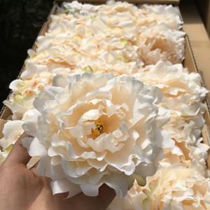 Decoración de la boda de seda de la flor del Peony de las flores artificiales Partido 10cm Material falso Simulación Cabeza del Peony decoraciones caseras