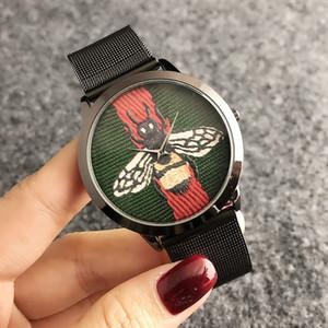 Erkekler Kadınlar Kız arı arı tarzı metal çelik bant Saatler GUC G60 için Marka kuvars bilek İzle