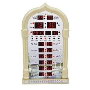 Adeeing Mosque Azan Calendar Muslim Prayer Wall Clock Alarm with LCD Display Home Decor