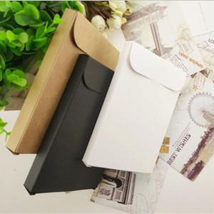 Blank Kraft Paper Envelope Packaging Box For Postcard Photo Box Greeting Card Packing Cardboard Box 15.5*10.8*1.5cm
