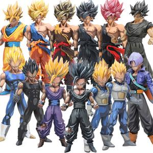 Figura de acción de 12styles 23-34cm Manga Dimensiones Vegeta Goku Gohan PVC Dragon Ball Z Master Estrellas pieza Muñecas Modelo MSP