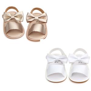 Cute Newborn Kid Baby Girls PU de cuero Bowknot Sandalias Princesa Party Shoes