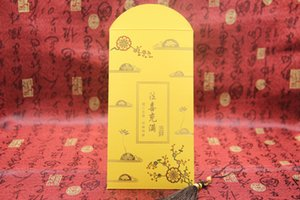 Dahongbao Shanyuan Budismo casamento feliz casamento criativo 2019 Ano Novo Golden Buddha Buda envelope vermelho mérito