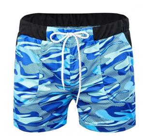 Ropa elástico de la cintura del camuflaje del verano Imprimir los pantalones cortos 2020 del diseñador del Mens shorts de playa de forma relajada