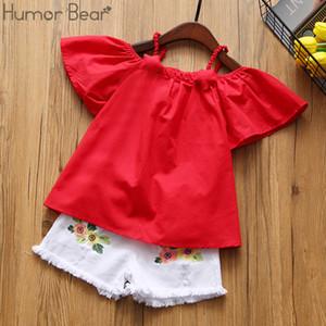 Humor Bear Совершенно новые комплекты одежды для девочек Детская детская одежда Верх для девочек и брюки 2-6y Q190523