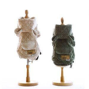 Deux pieds hiver Veste chien jaune vert chiot vêtements pour chiens Tenues animaux Costume Chihuahua caniche bichon Vêtements pour animaux domestiques