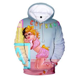 Mens cappuccio di lusso Abbigliamento Teenager Girl Hoodie delle donne del progettista Crybaby 3D Printed cappuccio Felpe Carino Pullover