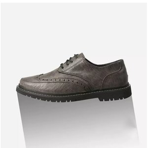 New Product men shoes leather black brown dark grey fashion sports sneakers size eur 40-45