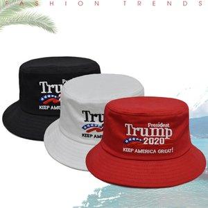 Viajes Trump 2020 Tacaño sombrero de ala deporte de la manera al aire libre Sombrero de sol suave y transpirable unisex Cap Beach Keep America gran pescador Cap VT0354