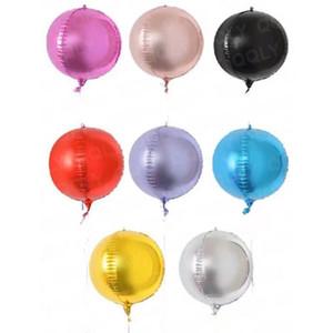 8 색 풍선 볼 셀프 실링 풍선 결혼식 생일 크리스마스 파티 장식 소품을 코팅 24 인치 세계 알루미늄