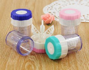 Caja limpiadora para lentes de contacto DHL de color gratis. Lavadora de limpieza manual. Cuidado de las gafas. Kit de almacenamiento. Caja fija para ojos. Envío gratis 3 colores.