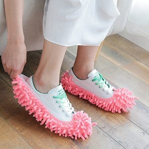 Yaratıcı Ayakkabı Çok fonksiyonlu Toz Terlik Ayakkabı Kapak Yıkanabilir Yeniden kullanılabilir Mikrofiber Ayak Çorap Temizleme Dayanıklı Aksesuarlar