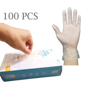 100pcs Tek Şeffaf Vinil PVC Eldiven Toz Ücretsiz Lateks Ücretsiz Eldiven