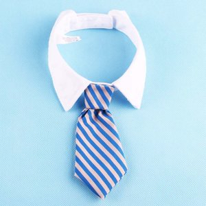 Köpek Bakım Kedi Çizgili Bow Tie Yaka Pet Ayarlanabilir Boyun Tie Beyaz Yaka Köpek Kravat Parti Düğün Gravatá Cachorro