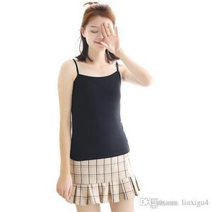 Chaleco Camisola para mujer Chaqueta Ropa interior Tanque Chaleco de verano Señoras Tops Sexy Wild Blanco y negro Color sólido Venta caliente GU4 GU4 gu4