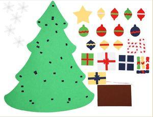 Árvore de Natal DIY Felt Kids Puzzle Hand-made Toys Creative Xmas Supplies Pendant Home Christmas Party Decoration New LXL632-1