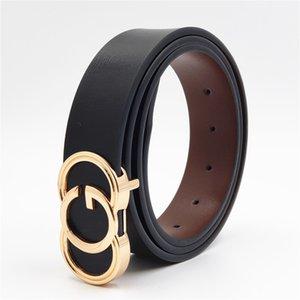 Luxury Cowhide Belts Buckle Designer Fashion Men Belts Male Women Genuine Leather Waist Strap for Jeans Pants Y200520