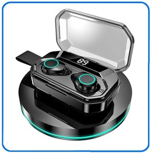 X6 X6 Pro Oreillettes TWS 5.0 Oreillette Bluetooth sans fil écouteurs IPX5 étanche écouteurs stéréo 2000mAh LED Smart Power Bank