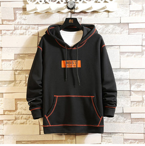 Patchwork Color Mens Hoodies Spring Mens 2020 Luxury Designer Clothes Casual Big Pockets Male Hooded Sweatshirts