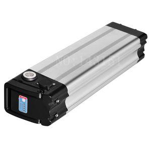 Hochwertige elektrische Fahrradbatterie 48V 17AH Silber Fischbatterien 30A BMS para für 750W 1000W Motor + Ladegerät