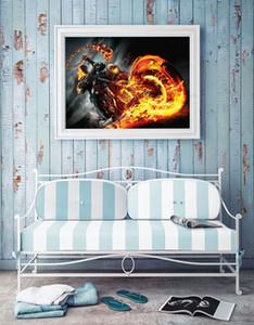 Marvel Ghost Rider, Ev Dekorasyonu HD Baskılı Modern Sanat Boyama Tuval (Çerçevesiz / Çerçeveli)