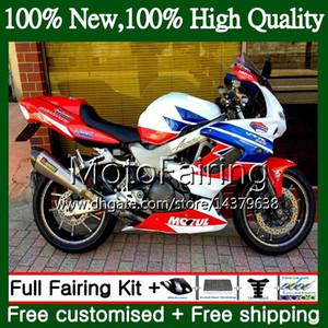 HONDA SuperHawk Için mavi kırmızı beyaz VTR1000F 97 98 02 03 04 05 64MF14 VTR1000 F VTR 1000 F 1000F 1997 2002 2003 2004 2005 Kaporta