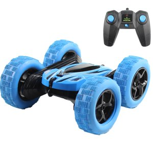Hugine RC Car 2.4G 4CH Stunt Drift Deformation Buggy Car Rock Crawler Roll Car 360 Degree Flip Kids Robot RC Cars Toys for Gifts Y200413