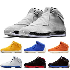 18 18s XVIII Herren-Basketball-Schuhe Toro Yellow Suede Schwarz Weiß Bred Royal Blue athletischer Sport-Turnschuh-Trainer Designer Chaussures 8-13