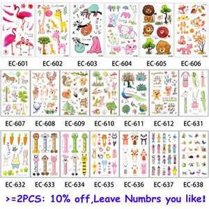 20 Designs 1 Blatt Kinder Tier Tattoo EC Temporary nette Karikatur-Fox Bild Waschbär Tattoo-Aufkleber für Körper-Kunst New