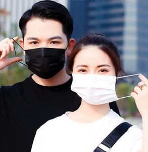 Couple masks Disposable Face Mask Black Protective Designer Elastic for Mask Safety Anti Dust Cotton Mouth Masks 3 Layer Fashion Luxury