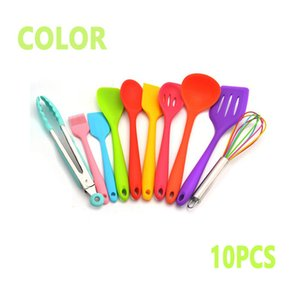 10PCS Kitchenware Non-stick Cookware Cooking Tool Spatula Ladle Egg Beaters Shovel Spoon Soup Kitchen Utensils Set