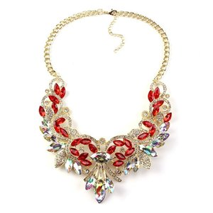 Best lady New Color Gem Crystal Brand Maxi Statement Necklaces& Pendants Vintage Turkish Wholesale zaCollar Choker Necklace 3237